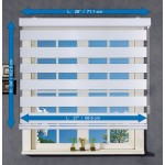 Store Alterné Zebra ''Jour & Nuit'' Blanc - 28 X 64 pouces