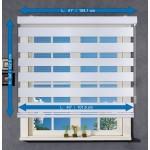 Store Alterné Zebra ''Jour & Nuit'' Blanc - 41 X 64 pouces