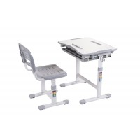 Ergonomic Desk with Chair - Grey