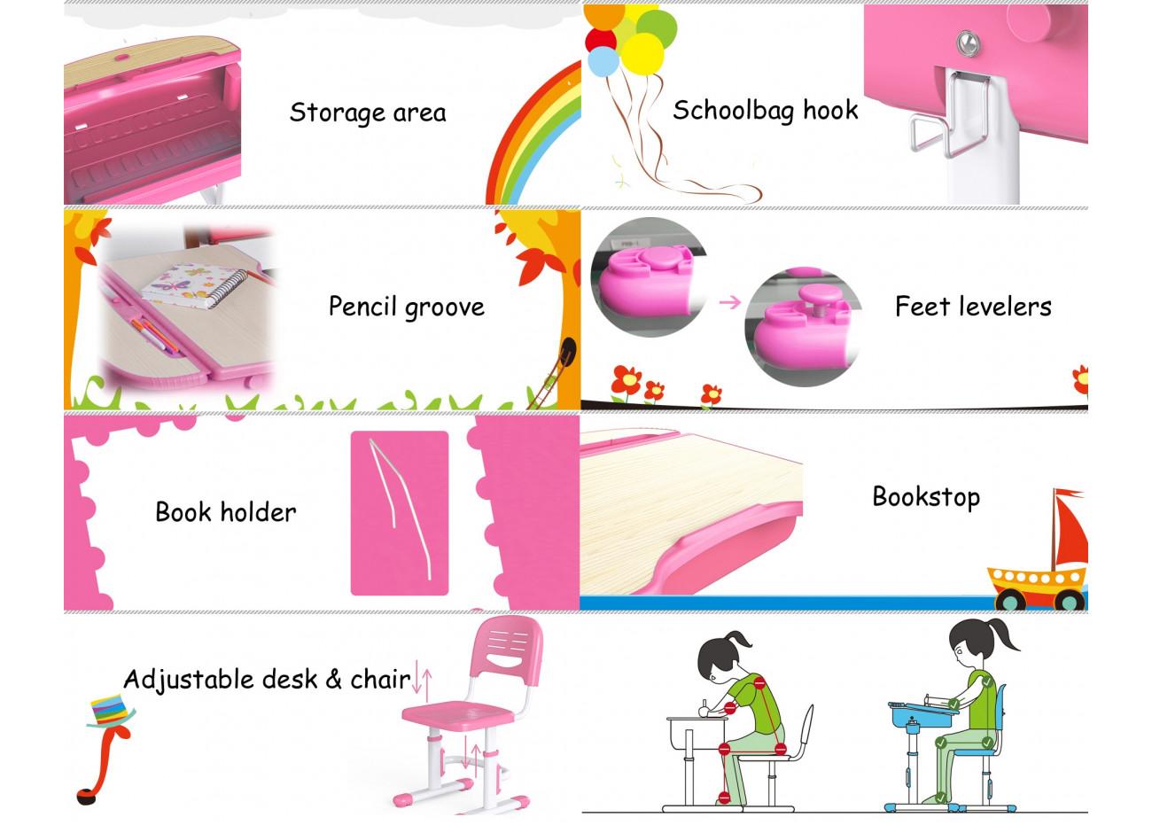 Boutique Wymo Kidz Bureau Chaise Ergonomiques Pour Enfants