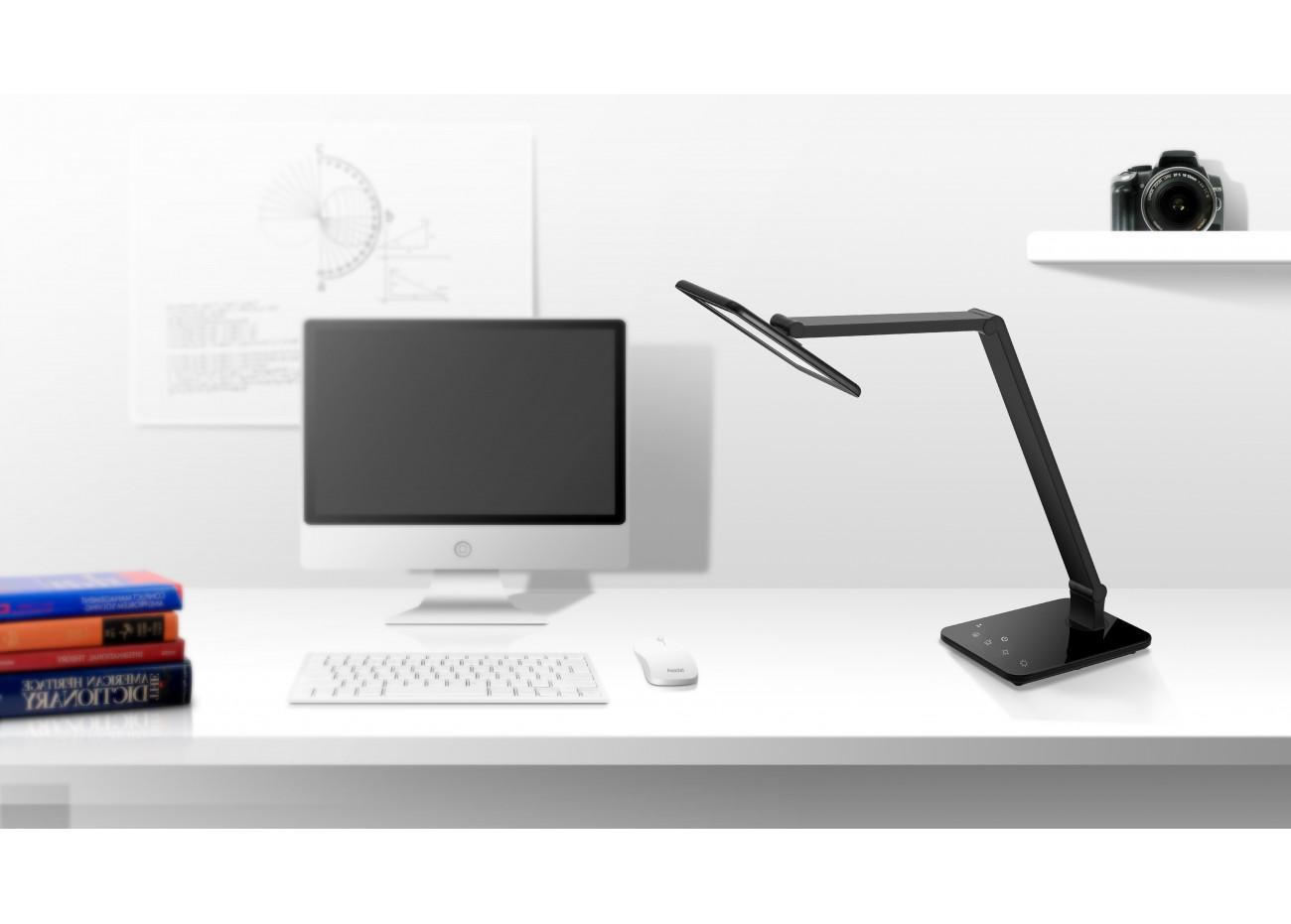 Lampe de bureau noire à del smart touch
