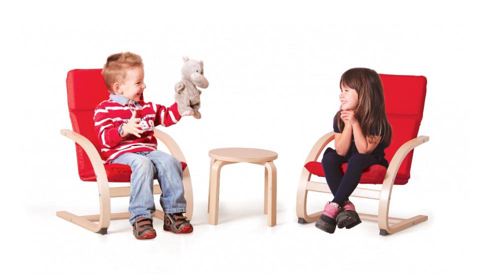 Table et Chaises Confort en Bois Cintré
