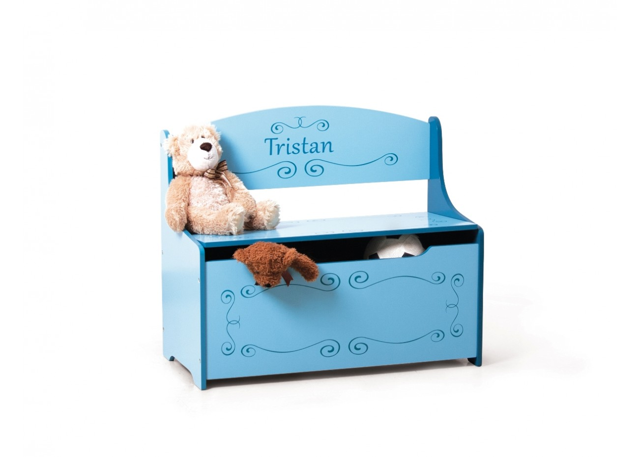 boutique wymo kidz coffre jouets personnalis bleu. Black Bedroom Furniture Sets. Home Design Ideas