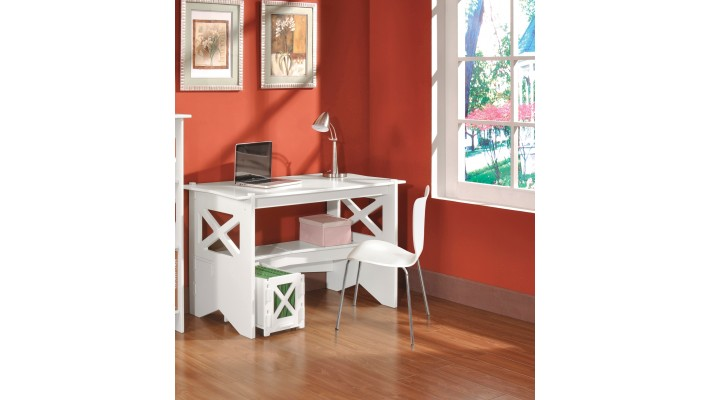 Bureau Cottage avec classeur - Blanc antique