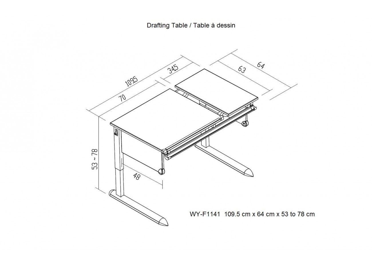 Drafting table for Blueprint plan table